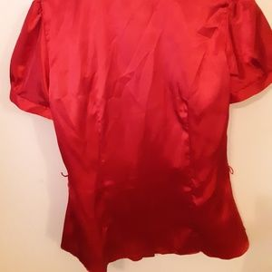 Tops - Red Silk Top